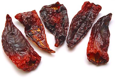 Whole dried peppers